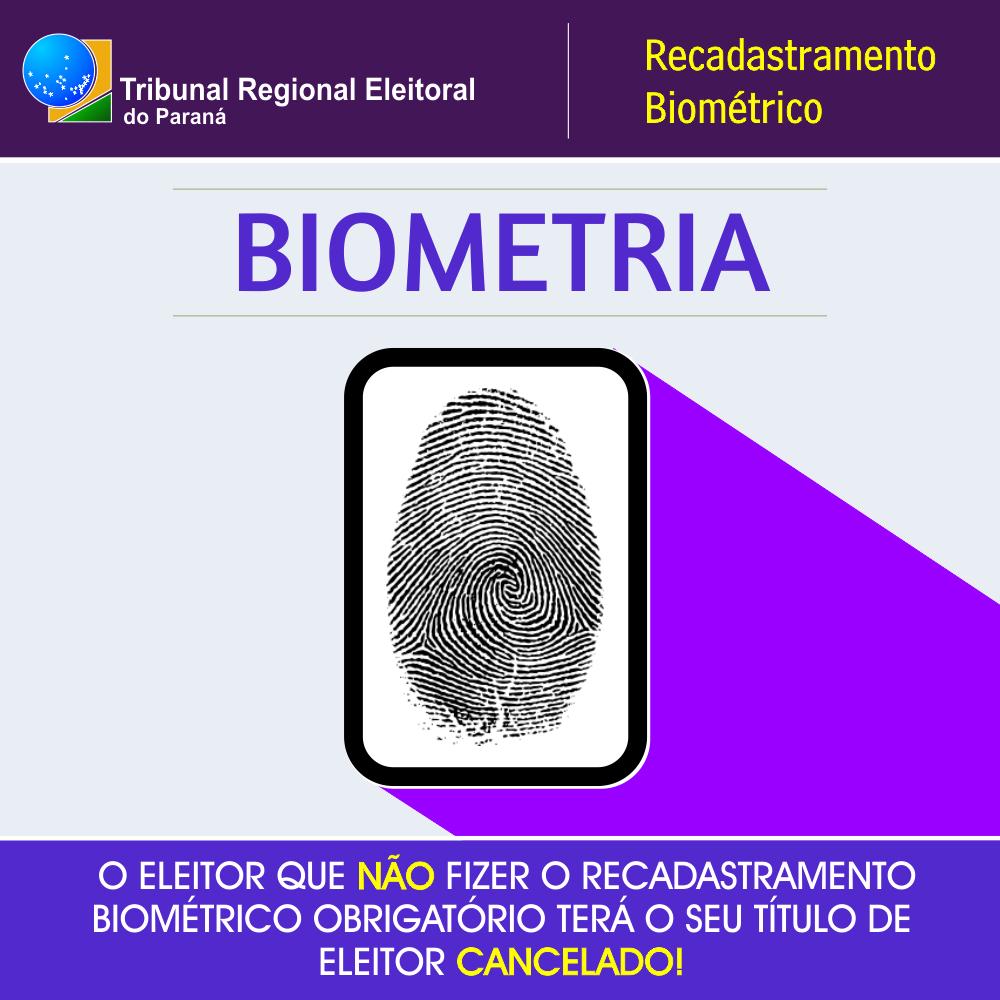 RECADASTRAMENTO BIOMÉTRICO OBRIGATÓRIO!