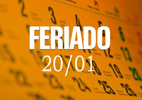 FERIADO MUNICIPAL 20 DE JANEIRO