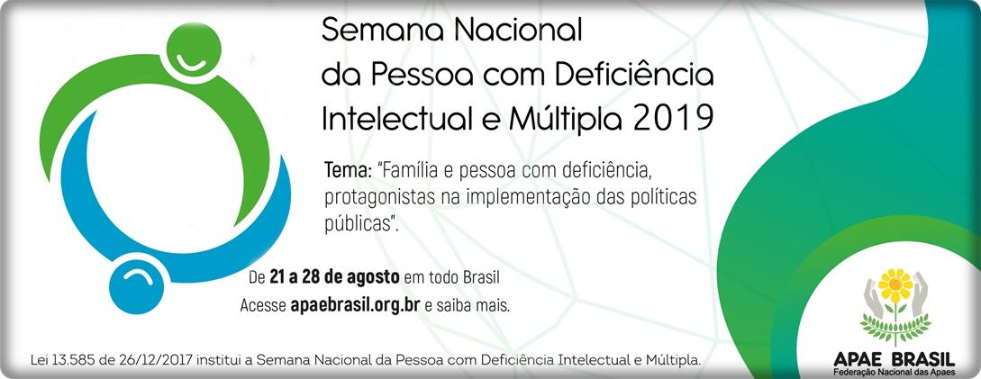 SEMANA NACIONAL DA PESSOA COM DEFICIENCIA