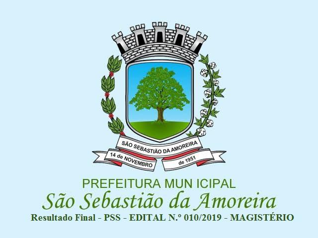 RESULTADO FINAL PROCESSO SELETIVO SIMPLIFICADO - EDITAL N.º 010/2019 - ESTÁGIO REMUNERADO  MAGISTÉRIO