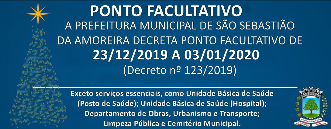 Prefeitura Decreta Ponto Facultativo de Final de Ano